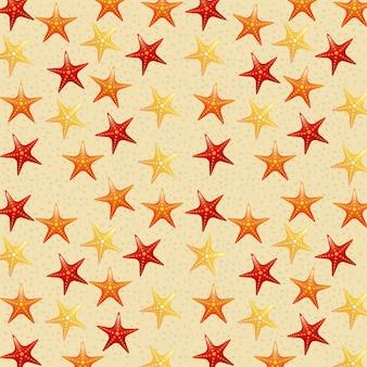 Plage et étoile de mer sur sable fond illustration vectorielle