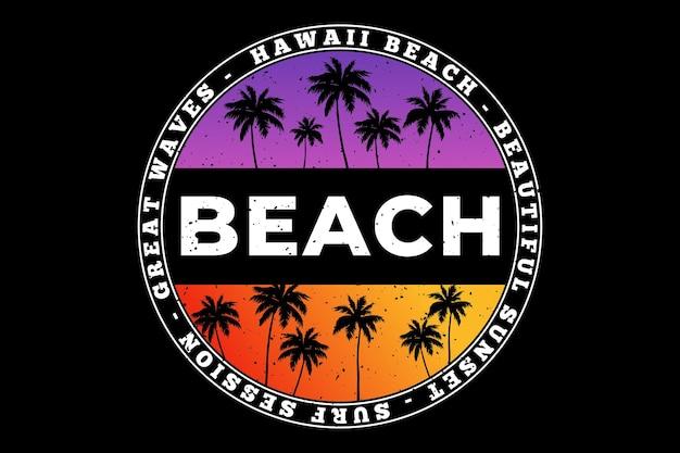 Plage hawaii vagues surf beau dégradé