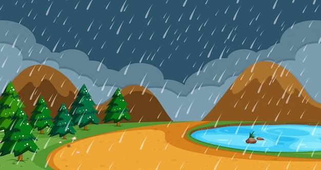 Plage en saison des pluies