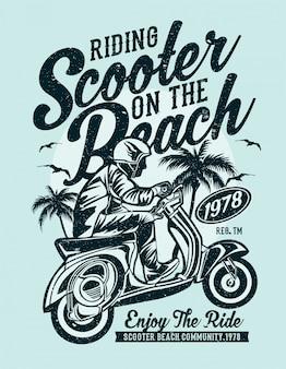 Plage de scooter