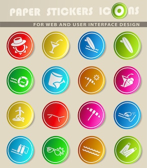 Plage simplement symbole pour les icônes web et l'interface utilisateur