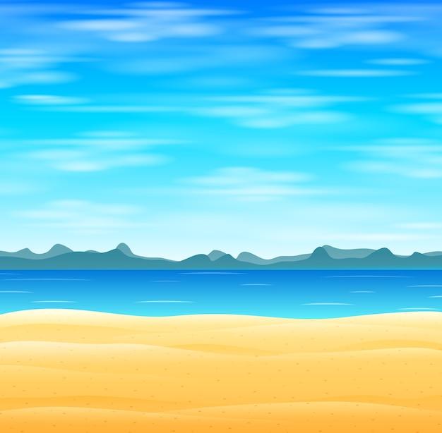 Plage tropicale avec un ciel bleu