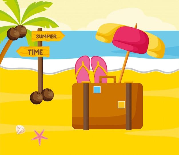 Plage de vacances d'été