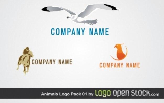 Plage vecteur de logo d'images d'animaux