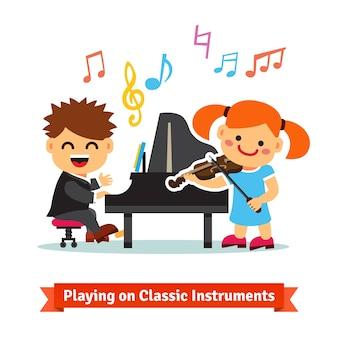 Plaing sur des instruments classiques