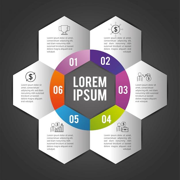 Plan d'affaires infographique avec lorem ipsum