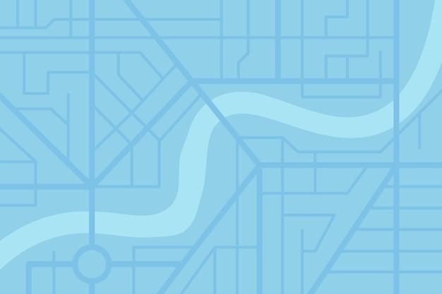 Plan de la carte des rues de la ville avec rivière. schéma d'illustration eps couleur bleu vecteur