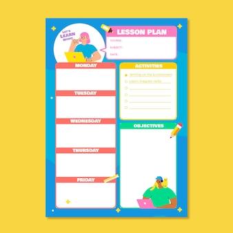 Plan de cours d'apprentissage en ligne créatif