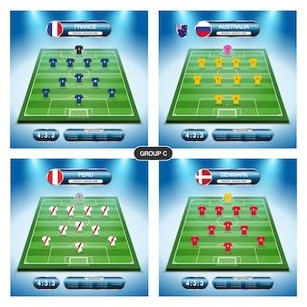 Plan de joueur d'équipe de football