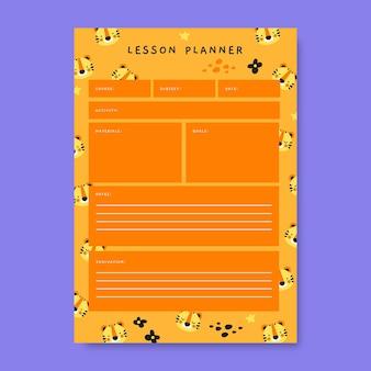 Plan de leçon des animaux de l'école secondaire de modèle créatif