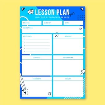 Plan de leçon de l'enseignement élémentaire de memphis doodle