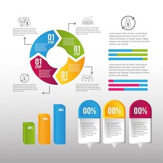 Plan de processus d'entreprise de stratégie d'infographie