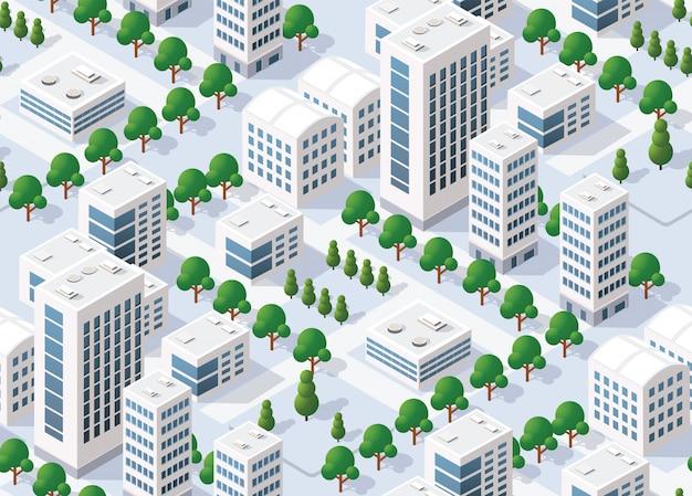 Plan urbain modèle sans couture