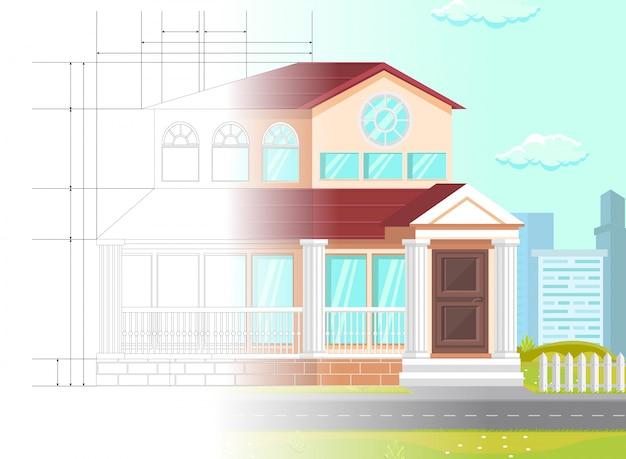 Plan de vector illustration law office planning.