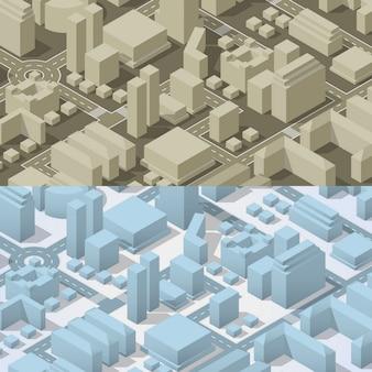 Plan de ville isométrique