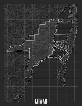 Plan De La Ville De Miami. Vecteur gratuit