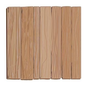 Planche de bois, bannière rectangulaire de panneau blanc de dessin animé, vieux fond de panneau d'affichage en bois texturé sec, plaque de contreplaqué marron