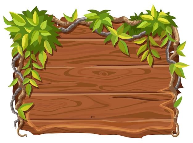 Planche de bois avec espace copie