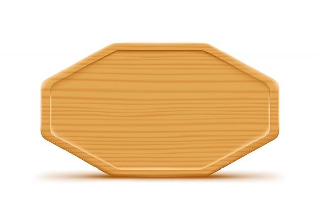 Planche de bois isolée