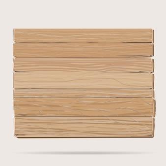 Planche de bois, panneau vierge de dessin animé en bois texturé rectangulaire, plaque en contreplaqué marron.