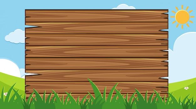 Planche de bois avec parc pour le fond
