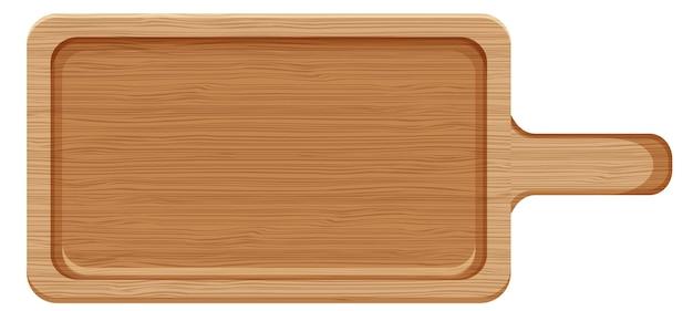 Planche à découper en bois ou assiette en style cartoon isolé