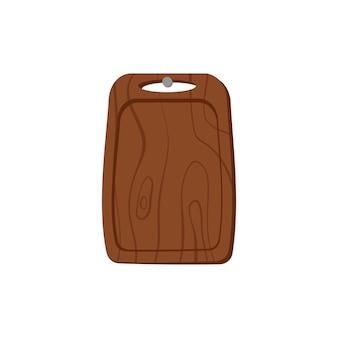 Une planche à découper en bois est suspendue à un article de cuisine à ongles pour cuisiner et couper les aliments
