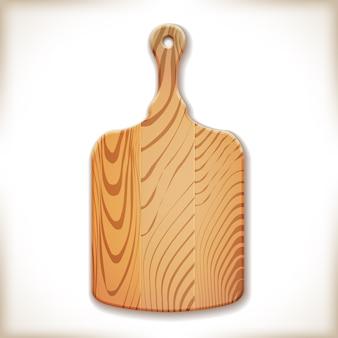 Planche à découper en bois isolée