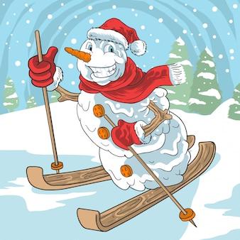 Planche à ski de balles de neige hiver