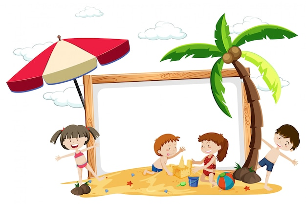 Une planche avec des vacances d'été