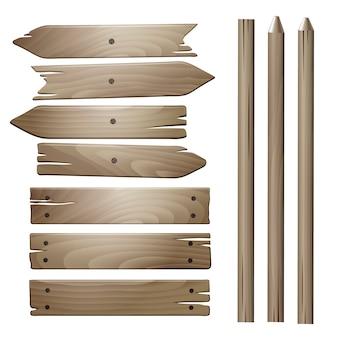 Planches de bois de vecteur