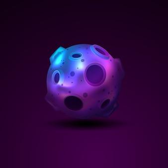 Planète 3d sphère avec cratères