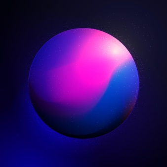 Planète couleur gradient illustration icône stylisée moderne résumé corps cosmique conception sphère couleur