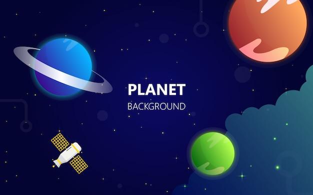 Planète dans le fond de l'espace galaxie