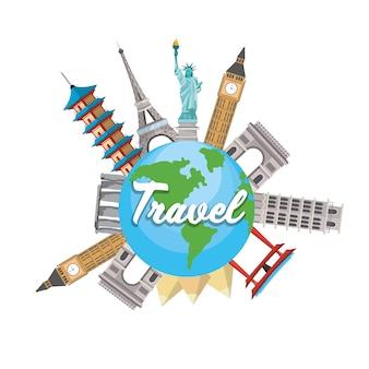 Planète mondiale et destinations de tours