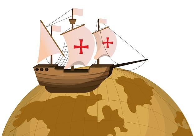 Planète mondiale et transport de navires en bois