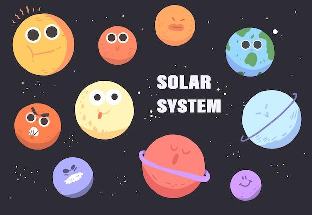 Planète système solaire. planète système solaire