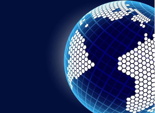 Planète terre. concept design. contexte. illustration vectorielle, eps10.