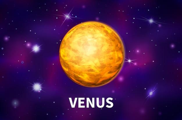 Planète vénus brillante et réaliste