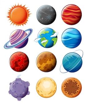 Les planètes dans la galaxie