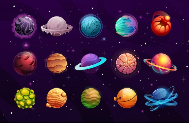Planètes de l'espace extraterrestre ou fantastique