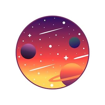 Planètes icône paysage
