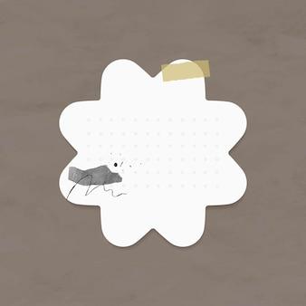 Planificateur autocollants vecteur élément de papier à points dans le style memphis