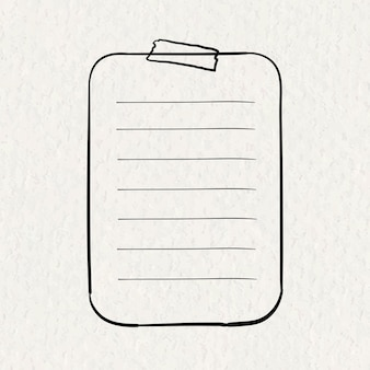 Planificateur autocollants vector élément de feuille de papier dans un style dessiné à la main sur la texture du papier