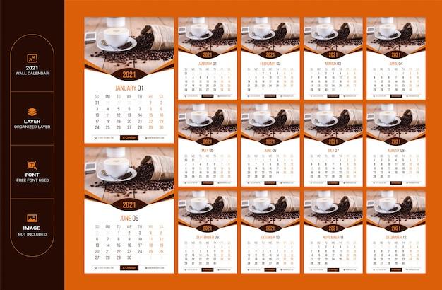 Planificateur de date minimaliste, modèle de calendrier. modèle de calendrier mural