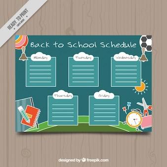 Planificateur hebdomadaire pour retourner à l'école