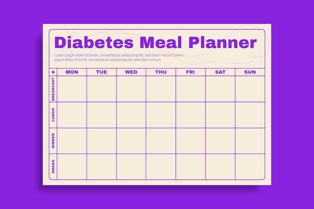 Planificateur de repas de diabète moderne