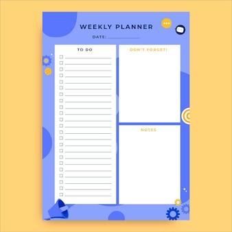 Planificateur violet marketing créatif dessiné à la main