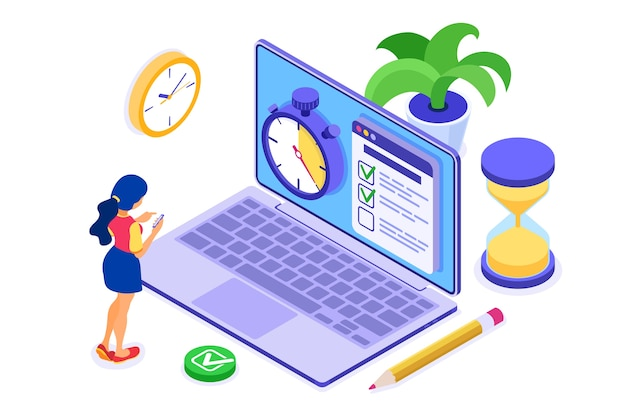 Planification calendrier gestion du temps fille planification