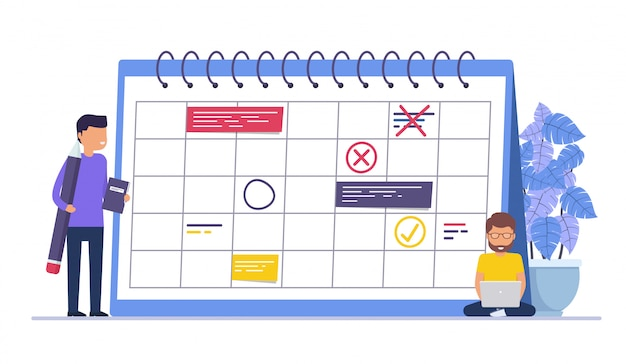 Planification d'événements commerciaux, rappels et horaires. gens d'affaires de concept, homme d'affaires avec un crayon.